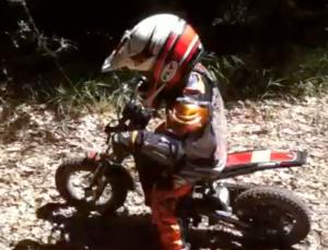 Davy on a motorbike
